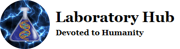laboratory hub logo - devoted to humanity